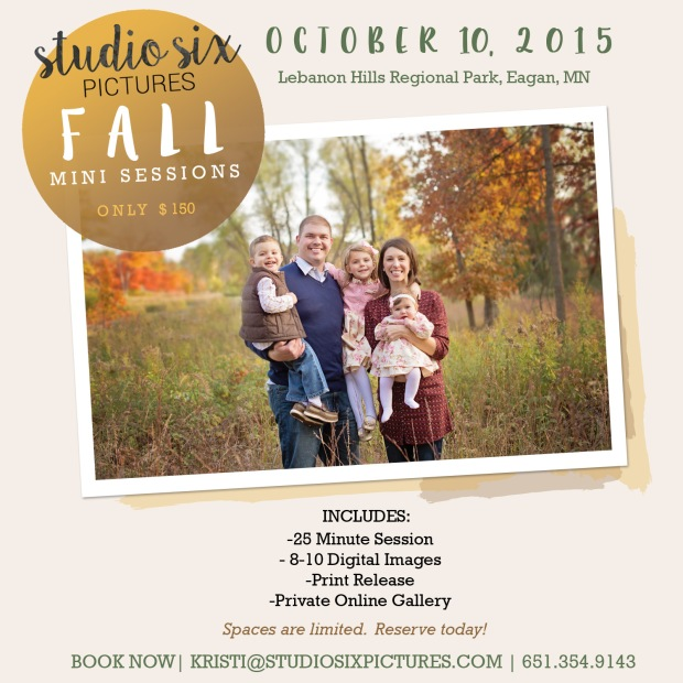 Fall Mini Session Appointments Are Now Open!